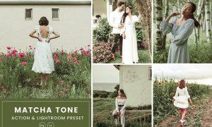 Matcha Tone Action & Lightrom Presets