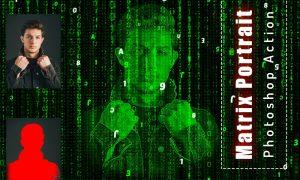 Matrix Portrait Photoshop Action 6456511