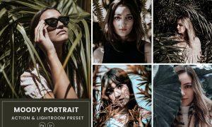 Moody Portrait Action & Lightrom Presets