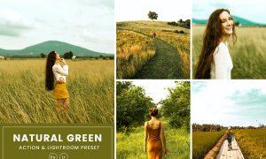 Natural Green Action & Lightrom Presets