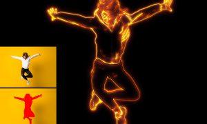Neon light Photo Effect 26760628