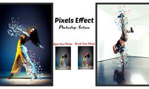 Pixels Effect Photoshop Action 6397296