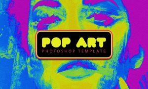 Pop Art Photoshop Template 5790110