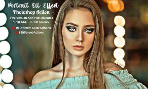 Portrait Oil Effect Photoshop Action 5555086