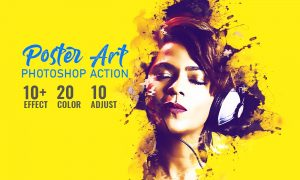 Poster Art Photoshop Action 4900555