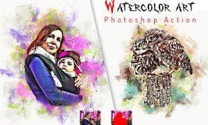 Premium Watercolor Art Action 6422817