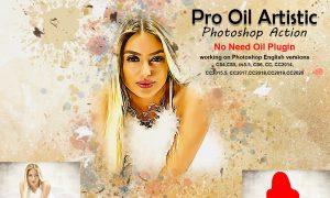 Pro Oil Artistic Photoshop Action 5275731
