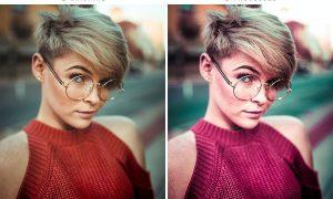 Red Portrait Effect Tones Action & Lightroom Prese