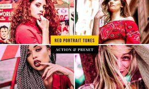 Red Portrait Tones Action & Lightroom Preset