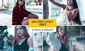 Sad Street Effect Tones Action & Lightroom Preset