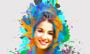 Smart Watercolor Photoshop Action 5241570