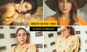 Smooth Nature Tones Action & Lightroom Preset NGQAV7W