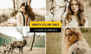 Smooth Yellow Tones Action & Lightroom Preset
