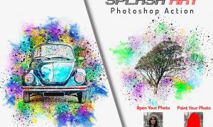 Splash Art Photoshop Action 6402800