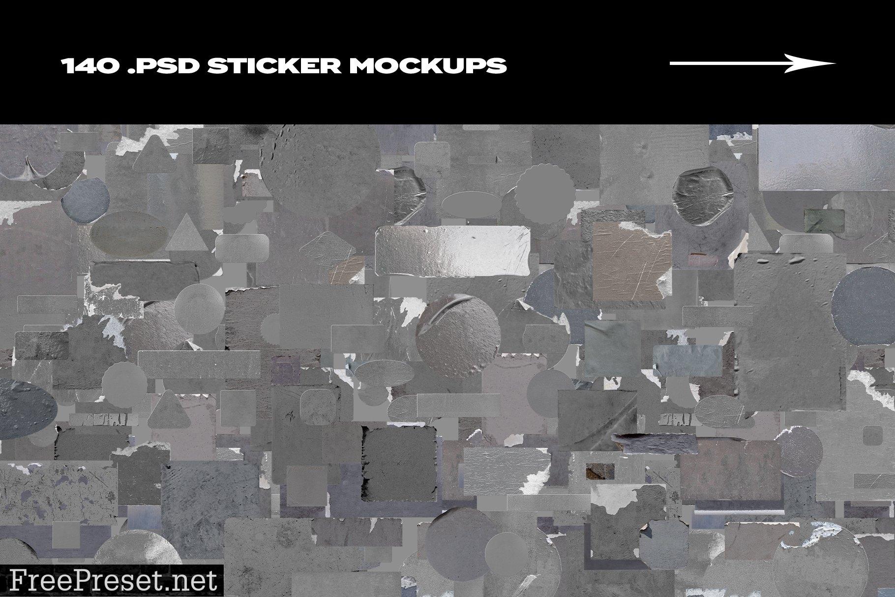 Sticker Mockup Bundle Logo Branding 5142909