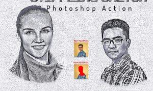 Stippling Sketch Photoshop Action 6405400