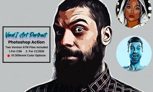 Vexel Art Portrait Photoshop Action 5619194