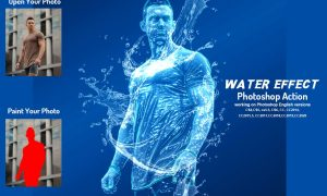 Water Effect Photoshop Action 6379909