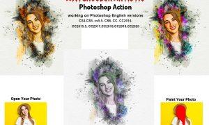 Watercolor Artistic Photoshop Action 5763787