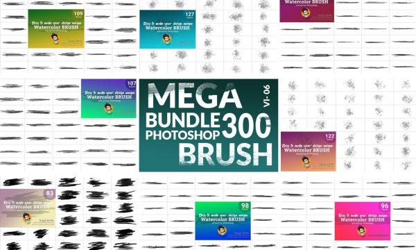 Watercolor Brush Bundle Vl 06 5750580