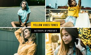 Yellow Vibes Tones Action & Lightroom Preset
