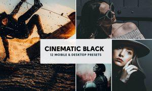 12 Cinematic Mobile & Desktop Lightroom Presets