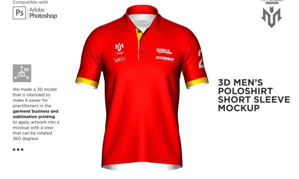 3D Poloshirt Short Sleeve Mockup 6453762