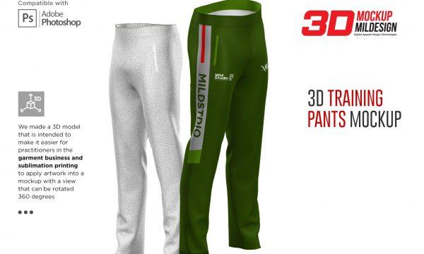 3D Training Pants Mockup 6365884