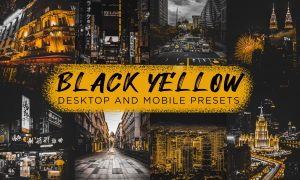 6 Black Yellow Lightroom Presets 6350924