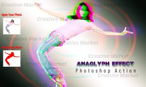 Anaglyph Effect Photoshop Action 6518920