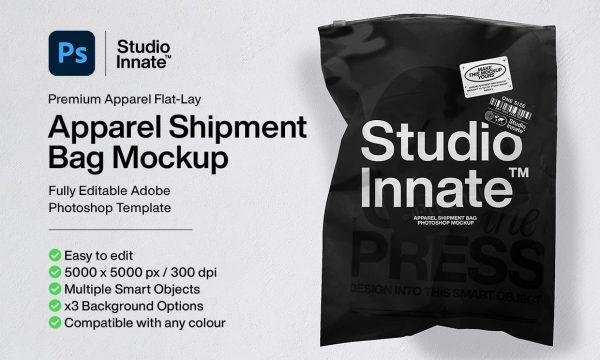 Apparel Shipment Bag Mockup 6134290