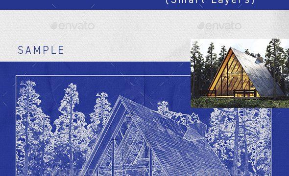Architect Blueprint Photo Effect 33249812