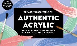 Authentic Acrylic Brushes