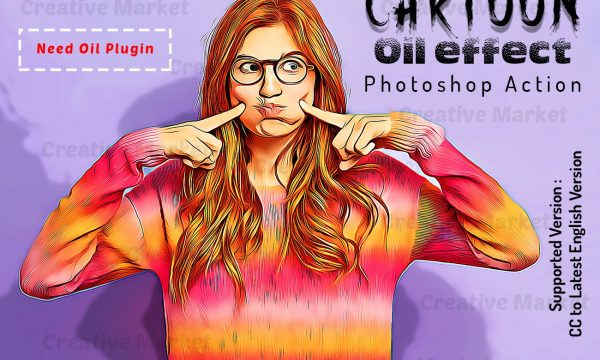 Cartoon Oil Effect PS Action 6490144