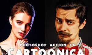 Cartoonica Photoshop Action