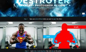 Destroyer - Fantasy Photoshop Action 32993878