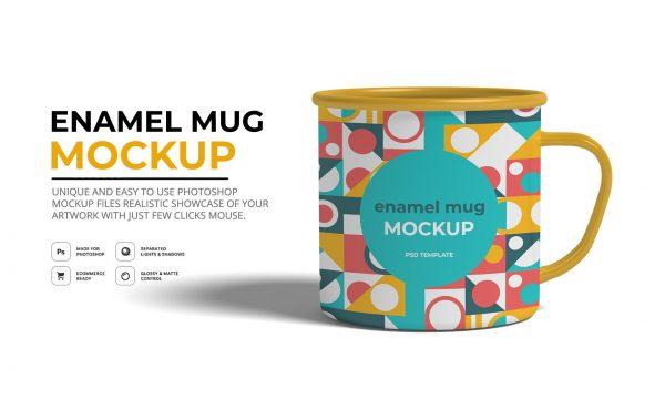 Enamel Mug Mockup 6429061