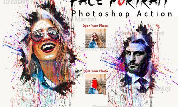 Face Portrait Photoshop Action 6495555