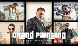 Grand Painting Photoshop Actions