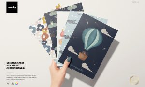 Greeting Cards Mockup Set 6346131