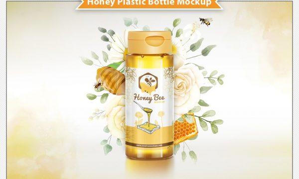 Honey Plastic Bottle Mockup 6305503