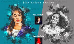 Incredible Watercolor PS Action 6503656
