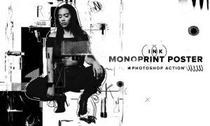 Ink Monoprint Poster PS Action 6357795