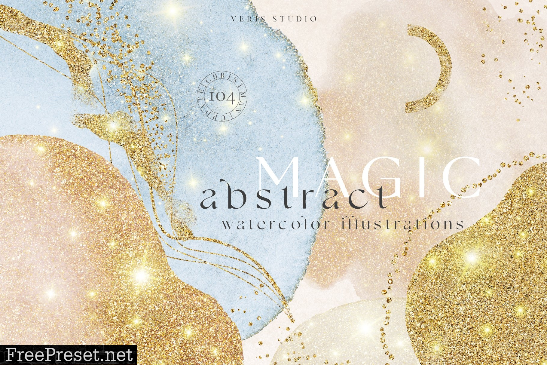 Magic Art Abstract Watercolor Shapes 5743646