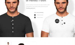 Men Henley T-shirt Mockups Free demo 6390082