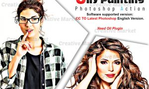 Oily Painting Photoshop Action 6520379