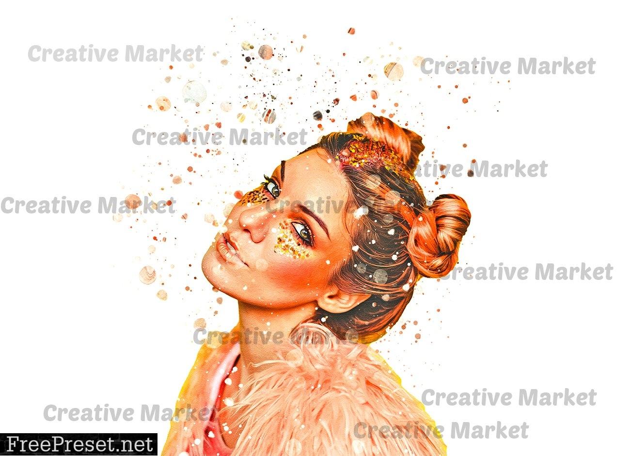Paint Splatter Photoshop Action 6475081