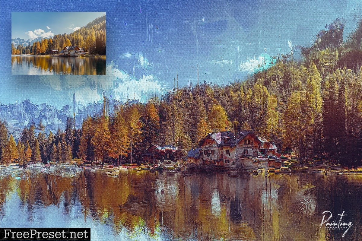 Painting Photoshop Action 6399858