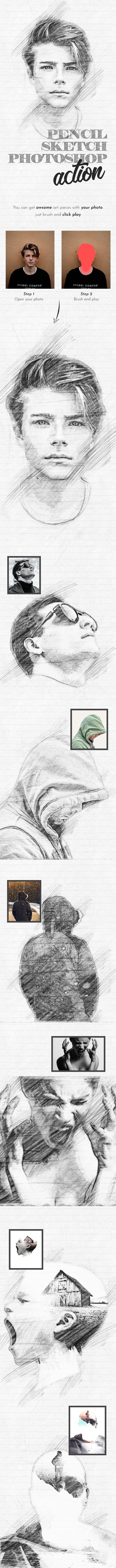 Pencil Sketch Photoshop Action 22055959