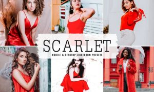 Scarlet Mobile & Desktop Lightroom Presets